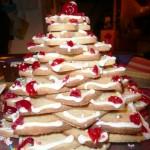 Arbol de navidad hecho de galletas