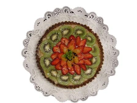 Tarta de frutas (kiwi, fresas y mandarina)