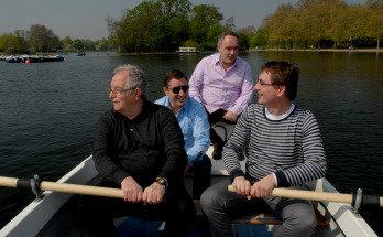 De izquierda a derecha, Juan Mari Arzak, Joan Roca, Ferran Adrià y Andoni Luis Aduriz, en el londinense Hyde Park  /   Xavier Cervera