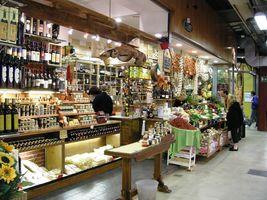 Conti en la planta baja del Mercato Centrale, Florencia